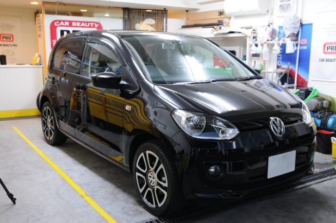 VW UP 新車ガラスコーティングプラス&フィルム施工