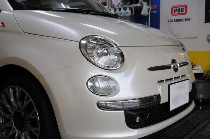 フィアット500 新車ガラスコーティング