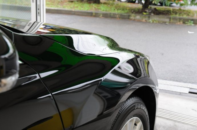 トヨタマークX 新車ガラスコーティング