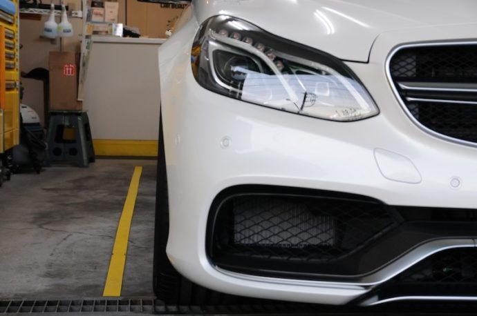 E63 AMG 新車ガラスコーティング&フィルム施工