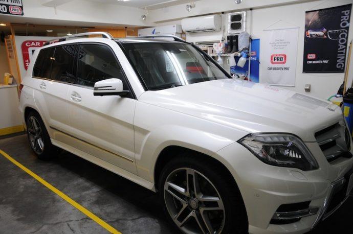 メルセデスベンツGLK350 新車ガラスコーティング