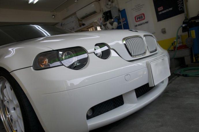 BMW318ti ガラスコーティング&フィルム施工