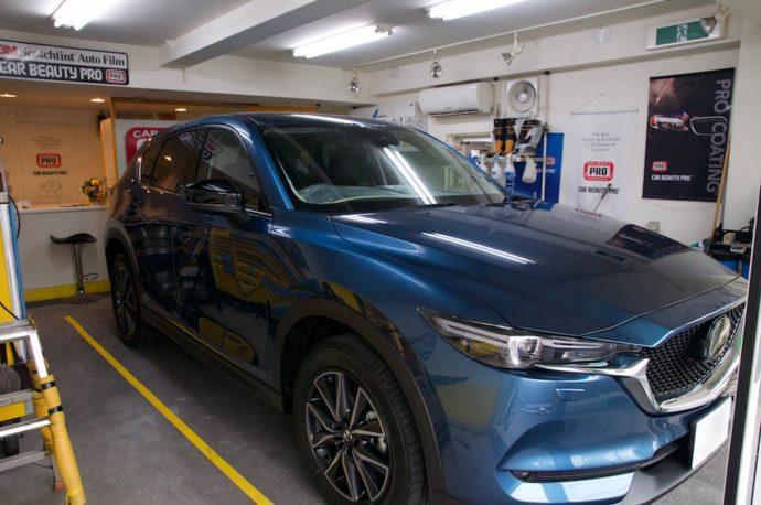 マツダ 新型CX-5 新車ガラスコーティング&フィルム