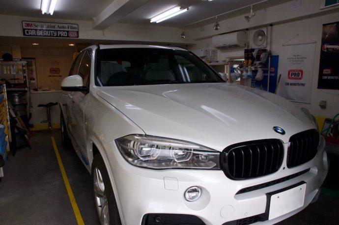 BMW X5 35d 新車SPGコート.超撥水&全ガラスフィルム施工
