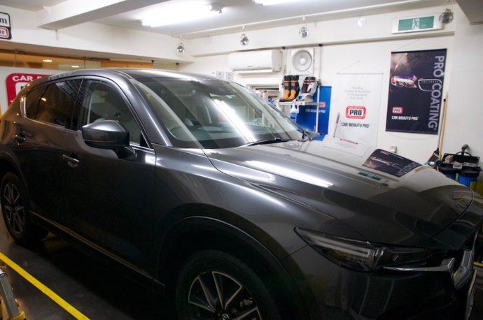 マツダ 新型CX-5 新車ガラスコーティング
