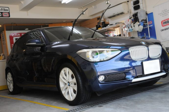 BMW116i フィルム&ホイール&ウィンドウガラスコーティング