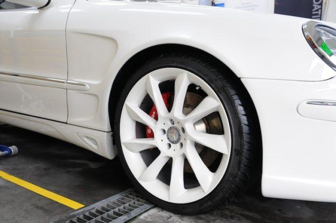 S500 エンジンルームクリーニング&ホイールコーティング