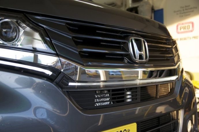 ホンダN-WGN 新車ガラスコーティングPCX-S7施工