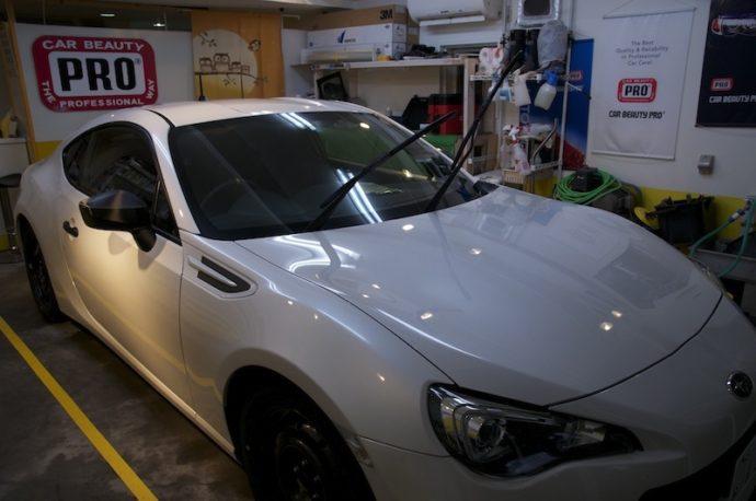スバルBRZ 新車ガラスコーティング&フィルム施工