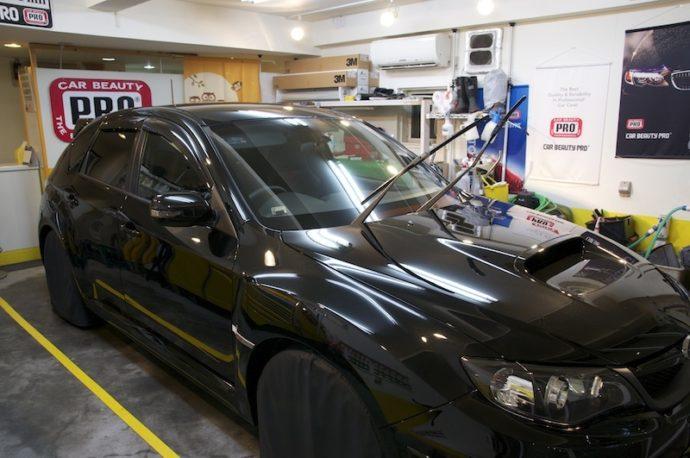 スバルWRX STi 新車ガラスコーティング&フィルム施工