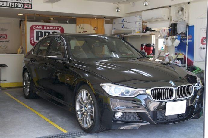 BMW320i(F30)新車ガラスコーティング施工