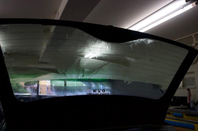 BMW E46 ツーリング フィルム剥がし