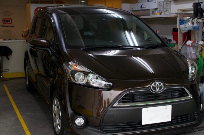 トヨタ シエンタ 新車ガラスコーティング