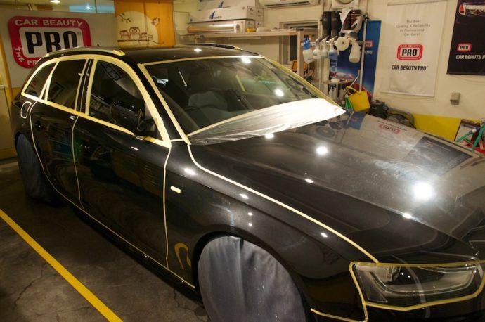 Audi A4 avant プロガラスコーティング 欲張りプラン その2