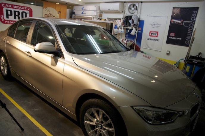 BMW 320i ガラスコーティングPCX-S7