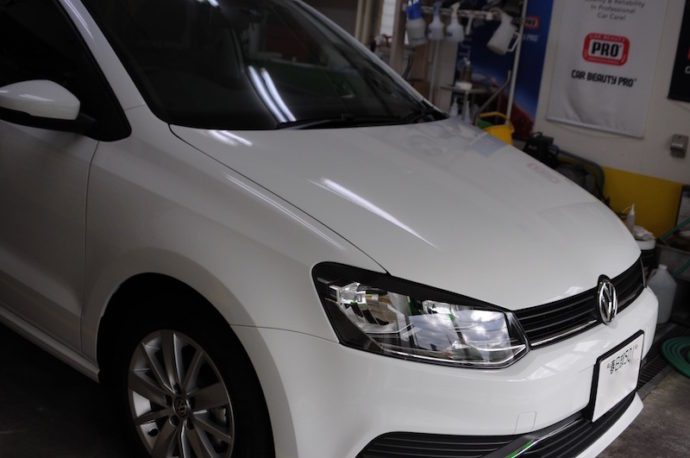 VW POLO 新車ガラスコーティングetc