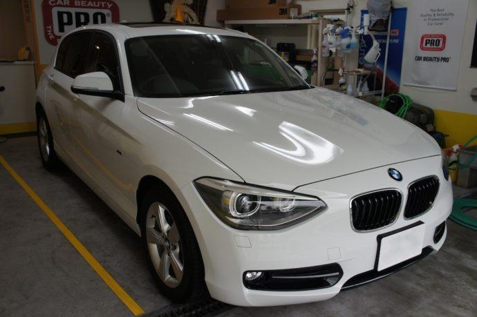 BMW1シリーズ 新車ガラスコーティング